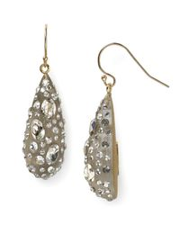 Alexis Bittar | Gray Lucite Crystal Dust Dewdrop Earrings | Lyst