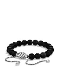 David Yurman - Metallic Spiritual Beads Bracelet With Black Onyx - Lyst