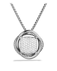 David Yurman - Metallic Infinity Medium Pendant With Diamonds On Chain - Lyst