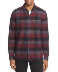 Lacoste - Multicolor Plaid Long Sleeve Button-down Shirt for Men - Lyst