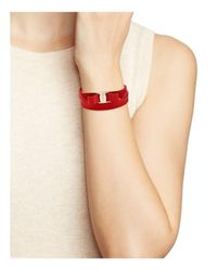 Ferragamo | Red Vara Double Wrap Bracelet | Lyst