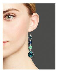 Ippolita - Metallic Rock Candy® Sterling Silver 4 Stone Drop Earrings In Neptune - Lyst