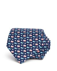 Vineyard Vines - Blue Whale And Flag Classic Tie for Men - Lyst