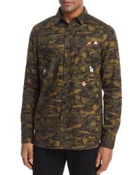 Sovereign Code - Green Nintendo Camouflage Regular Fit Button-down Shirt for Men - Lyst