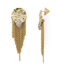 Alexis Bittar | Metallic Rocky Medallion Post Earrings | Lyst
