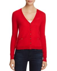 Tory Burch - Red Simone Shrunken Wool Cardigan - Lyst