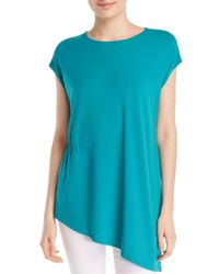 Eileen Fisher - Blue Asymmetric Tunic Top - Lyst