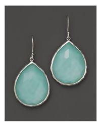 Ippolita - Blue Sterling Silver Wonderland Teardrop Earrings In Aqua Doublet - Lyst
