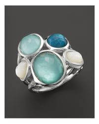 Ippolita - Blue Sterling Silver Wonderland 5-stone Ring In Tahiti - Lyst