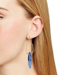 Aqua - Blue Lucite Drop Earrings - Lyst