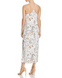 Aqua - Natural Floral Racerback Maxi Dress - Lyst