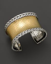 John Hardy | Metallic Palu 18k Gold And Silver Cuff, 39.6mm | Lyst