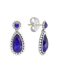 Lagos | Blue Sterling Silver Lapis Doublet Drop Earrings | Lyst