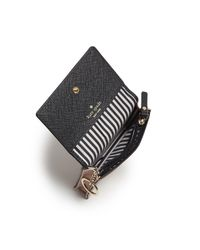 Kate Spade | Black Cameron Street Beca Color Block Saffiano Leather Wallet | Lyst