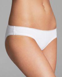On Gossamer | White Cabana Stretch Cotton Bikini #1402 | Lyst