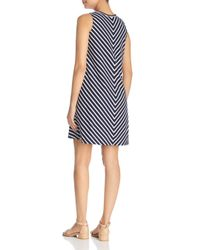 Beach Lunch Lounge - Blue Striped A-line Dress - Lyst