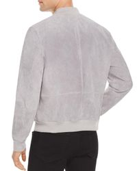 Blank NYC - Gray Suede Bomber Jacket for Men - Lyst