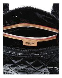 MZ Wallace | Black Small Sutton Lacquer Satchel | Lyst