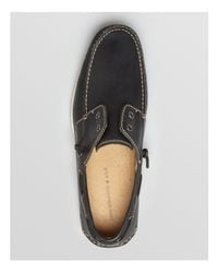 John Varvatos - Black Schooner Laceless Boat Shoes for Men - Lyst