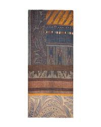 Larioseta - Multicolor Multi Mosaic Print Wool Scarf - Lyst