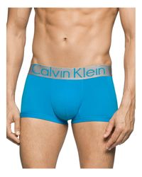 Calvin Klein | Blue Steel Micro Low Rise Trunks for Men | Lyst