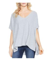 Vince Camuto - Gray Textured Oversized Sweater - Lyst