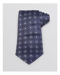 Armani | Blue Oval Patterned Classic Tie for Men | Lyst