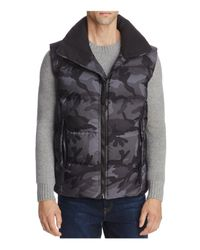 Sam. | Gray Camouflage Racer Puffer Vest for Men | Lyst