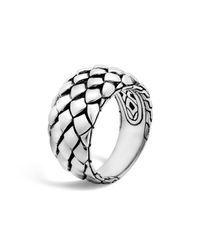 John Hardy | Metallic Sterling Silver Legends Cobra Ring | Lyst