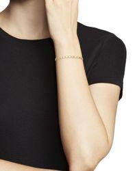 Moon & Meadow - Metallic Mirrored Heart Link Bracelet In 14k Yellow Gold - Lyst