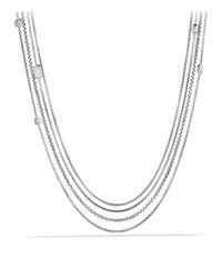 David Yurman - Metallic Confetti Station Necklace With Black Onyx, Black Diamonds And Gold - Lyst