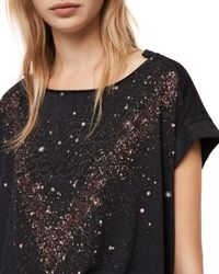 AllSaints - Black Pina Celestial Tee - Lyst
