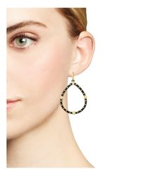 Armenta - Metallic 18k Yellow Gold And Blackened Sterling Silver Old World Pear Diamond Drop Earrings - Lyst