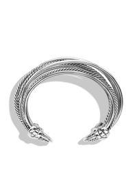 David Yurman - Metallic Crossover Wide Cuff - Lyst