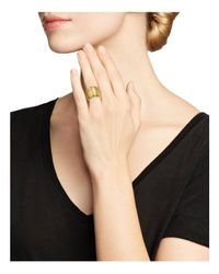 Roberto Coin - Metallic 18k Yellow Gold Wide Ring - Lyst