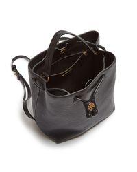 Tory Burch - Black Georgia Pebbled Leather Backpack - Lyst