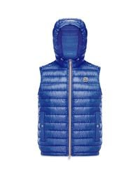 Moncler - Blue Gien Hooded Vest for Men - Lyst