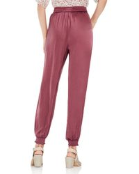 Vince Camuto - Red Smocked Jogger Pants - Lyst