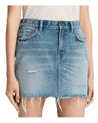 AllSaints | Blue Betty Denim Skirt | Lyst