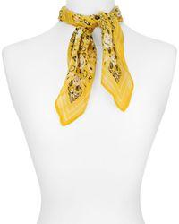 Chan Luu - Yellow Floral Bandana Print Scarf - Lyst