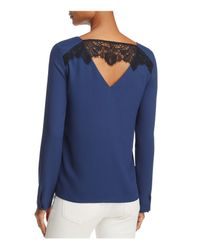 Cooper & Ella - Blue Freja Lace-back Top - Lyst