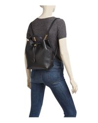 Tory Burch - Black Georgia Pebbled Leather Backpack - Lyst