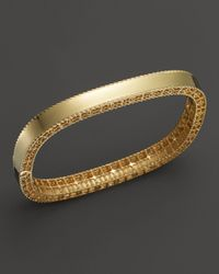 Roberto Coin - Metallic 18k Yellow Gold Princess Bangle - Lyst