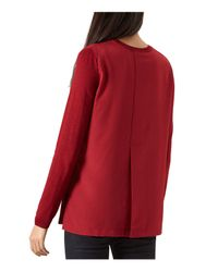 Hobbs - Red Cassidy Merino Wool-blend Sweater - Lyst