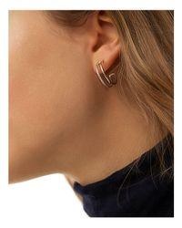 Shinola - Metallic Sterling Silver Coin Edge Hoop Earrings - Lyst