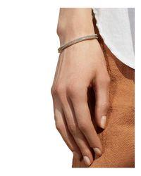 Shinola - Metallic Sterling Silver Coin Edge Single Cuff Bracelet - Lyst