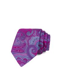 Ted Baker - Purple Macro Paisley Classic Tie for Men - Lyst