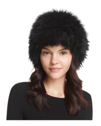 Surell - Black Fox Fur Cap - Lyst