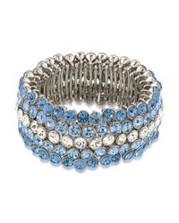 Carolee | Blue Stretch Bracelet | Lyst