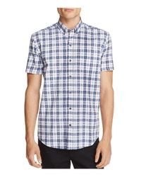 W.r.k. - Blue Plaid Slim Fit Button-down Shirt for Men - Lyst